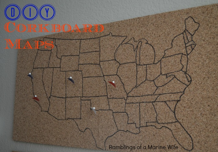 DIY Corkboard Maps Nothing But Room